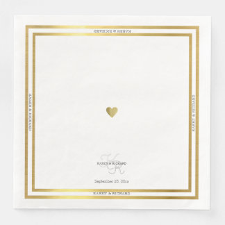 just a simple heart on white and clean dinner disposable napkin