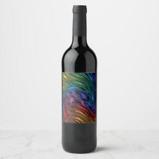 Just a Splash of Color Wine Label