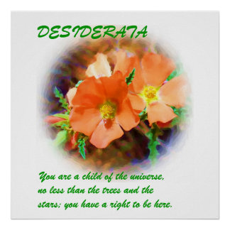 """Just a """"Weed"""" DESIDERATA Poster"""