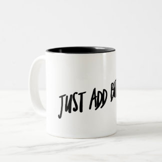 Just Add Butter Two-Tone Coffee Mug