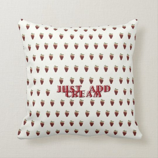 Just Add Cream Throw Pillow