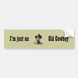 Just An Old Cowboy Bumper Sticker