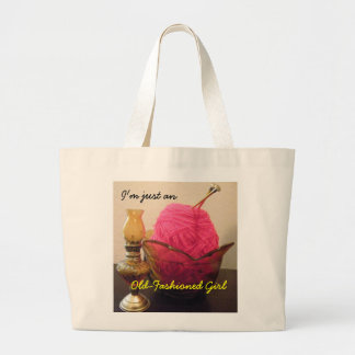 Just An Old Fashioned Girl Knitting Bag
