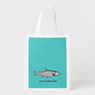 Just an ordinary fish shopping bag. reusable grocery bag