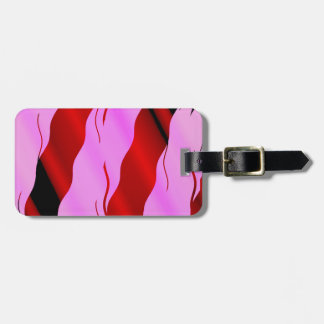 just another jazzy almost patriotic pattern luggage tag