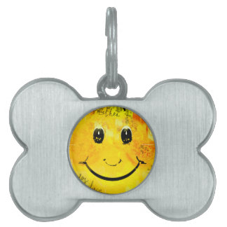 Just another smiley face pet ID tag