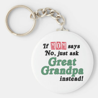 Just Ask Great Grandpa Keychain