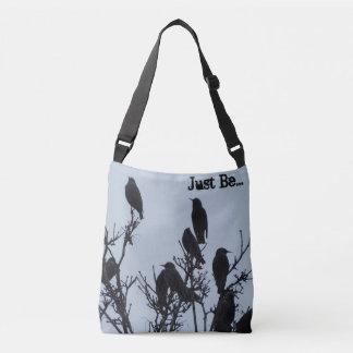 """Just Be"" cross body bird bag"