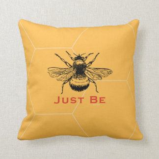 Just Be Throw Pillow