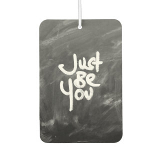 """""""Just Be You"""" Painted White & Chalkboard Air Freshener"""