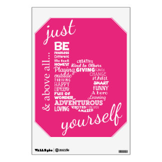 Just Be yourself Kids Style Wall Decal