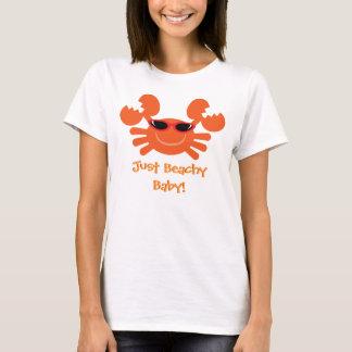 Just Beachy Baby! Orange Crab With Sunglasses T-Shirt