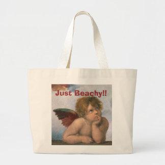 Just Beachy!! Raphael Angel Large Tote Bag