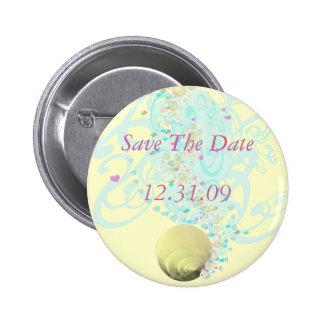 Just Beachy Wedding 2 Inch Round Button