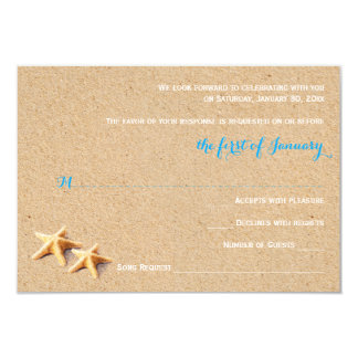 Just Beachy Wedding RSVP Template Card