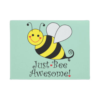 Just Bee Awesome Bumble Bee Doormat