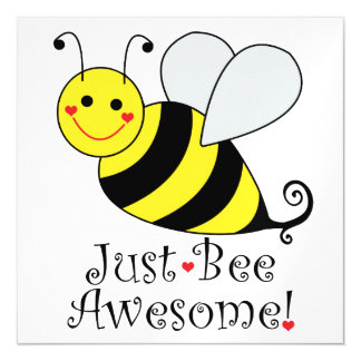 Just Bee Awesome Bumble Bee Magnetic Card
