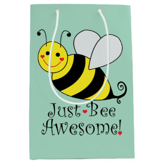 Just Bee Awesome Bumble Bee Medium Gift Bag
