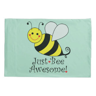 Just Bee Awesome Bumble Bee Pillowcase