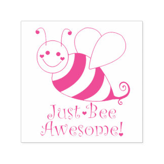 Just Bee Awesome Bumble Bee Self-inking Stamp
