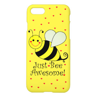 Just Bee Awesome Yellow Bumble Bee iPhone 8/7 Case