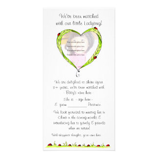 Just been matched adoption announcement card