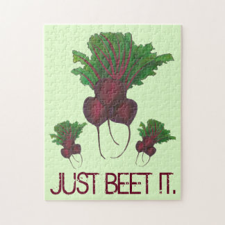 Just Beet (Beat) It Funny Red Beets Garden Veggie Jigsaw Puzzle