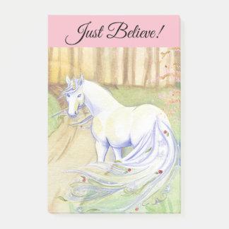 Just Believe Unicorn Post-it Notes