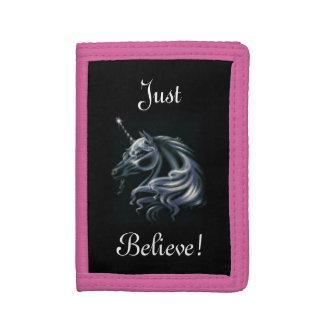 Just Believe Unicorn Tri-fold Wallet
