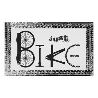 """""""Just Bike"""" Graffiti from Bike Parts & Tire Tracks Poster"""
