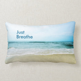 Just Breathe at the Beach Lumbar Pillow