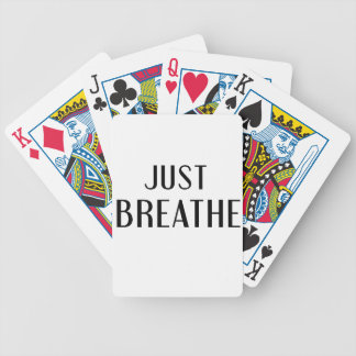 just Breathe Bicycle Playing Cards
