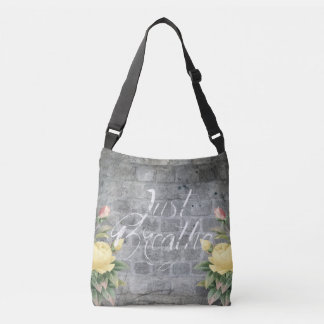 Just Breathe - Brick - Tote - Bag - Yellow Rose