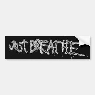 Just Breathe Bumper Sticker