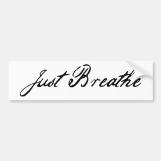 just breathe bumper sticker