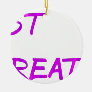 Just breathe. ceramic ornament