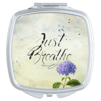 Just Breathe - Flower - Compact Vanity Mirrors