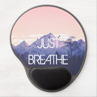 Just Breathe Mountain Design Gel Mouse Pad