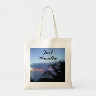 Just Breathe Ocean Sunrise Palm Tree