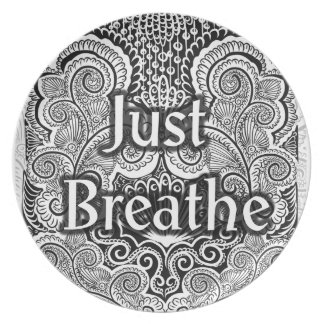 Just Breathe - Positive Quote´s Plate