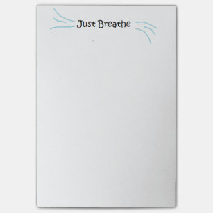 """""""Just Breathe"""" Post-It Notes"""