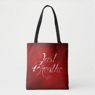 Just Breathe - Red - Tote - Bag