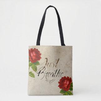 Just Breathe - Roses Bag - TOTE