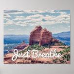 Just Breathe Sedona Background | Poster