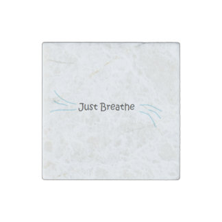 """Just Breathe"" Stone Magnet"