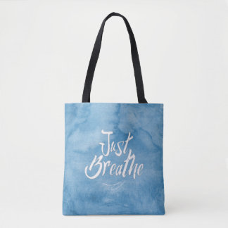 Just Breathe - TOTE - BAG - Blue sky