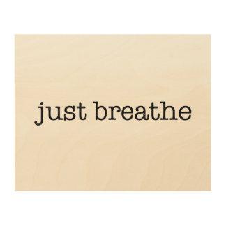 Just Breathe Wood Canvas