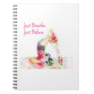 Just Breathe Yoga Notebook