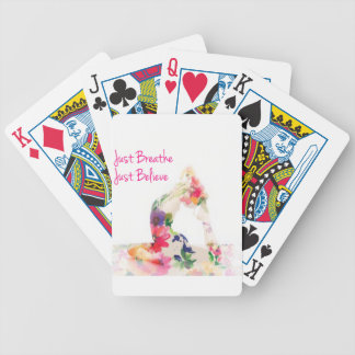 Just Breathe Yoga Series Bicycle Playing Cards