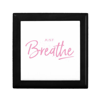 Just Breathe, Yoga, Zen Quote Gift Box
